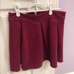 Aeropostale maroon skirt